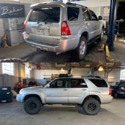 Toyota 4runner before and after lift kit