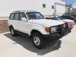 White Toyota Classic 4Runner